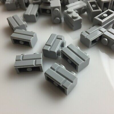 40 NEW LEGO Medium Stone Grey Profile Brick 1X2 / Masonry (98283/6000066)