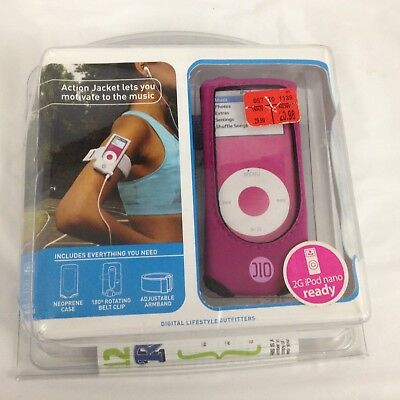 New DLO Action Jacket sport-ready neoprene PINK case for 2 G iPod Nano Action Jacket Armband