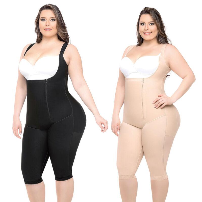 Damen Tummy Control Ganzkörper Miederhose Bauchweg Shapewear Bodysuit Bodyshaper