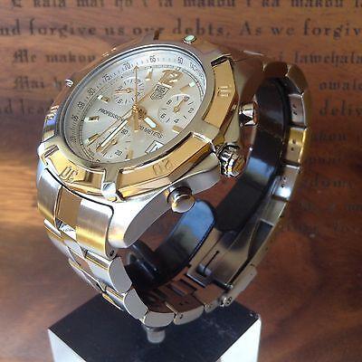Tag Heuer CN1151 Chronograph  Excellent Gold & SS Two Tone Mens Quartz Watch