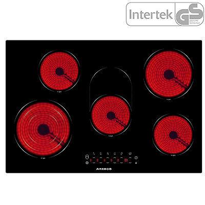 Ceran Glaskeramik Kochfeld mit 5 Kochplatten und Sensor Touch 5 Zonen Kochfeld