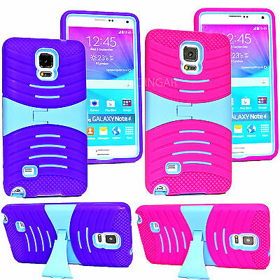 For Samsung Galaxy Note 4 Case Cover Best Silicone PC Hybrid Rugged with (Best Galaxy Note 4 Screen Protectors)
