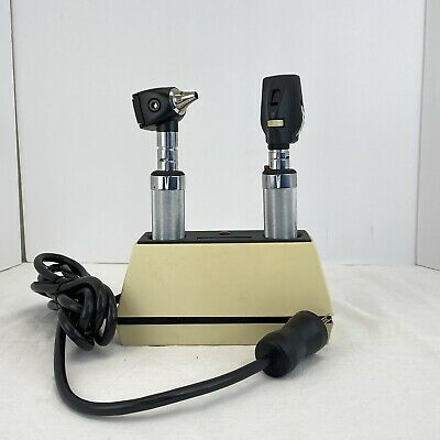 Welch Allyn 3.5v 71110 Desk Charger W 11720 Ophthalmoscope 25020 Otoscope
