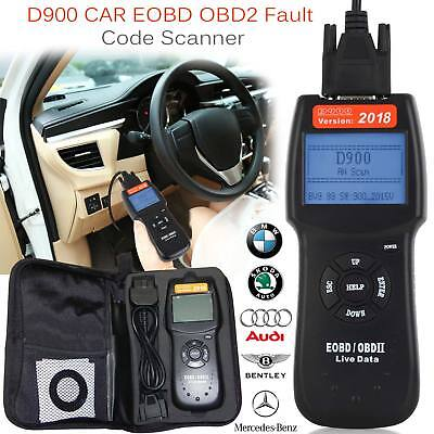 2018 Universal Car Fault D900 Code Reader OBD2 EOBD CAN Diagnostic Scanner Tool