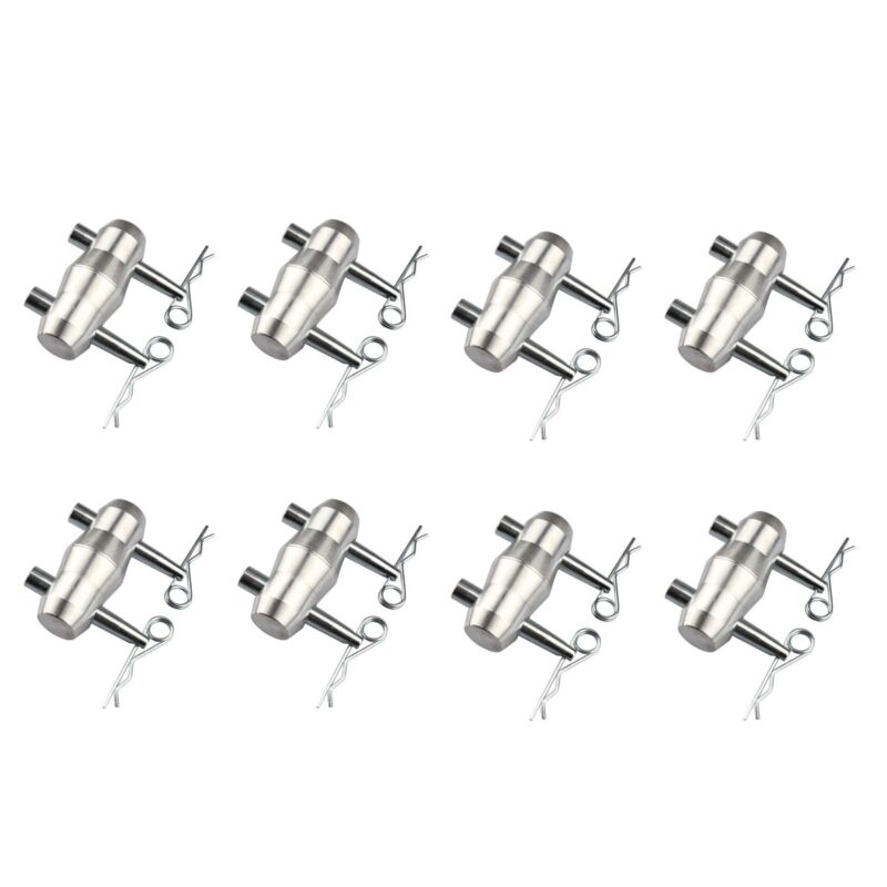 8 Sets Double Conical Couplers with Body Clips Tapered Pin 50mm Global Truss