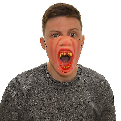 Half Face Angry Vampire Funny Fancy Dress Latex Mask For Kids & Adults Halloween - Funny Halloween Masks For Kids