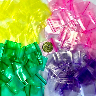 2 Mil 125125 1.25 X 1.25 1000 Mini Zip Lock Color Bags Pink Green Purple Yel