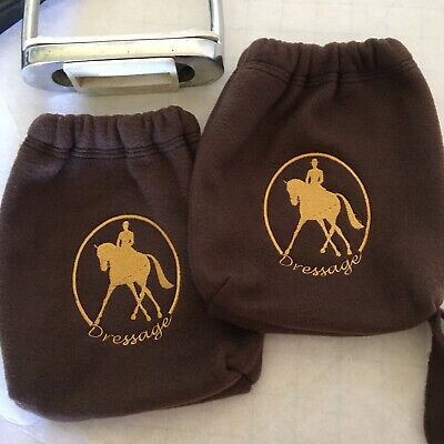 Bags Brown Dressage Iron Covers English Stirrup Protectors