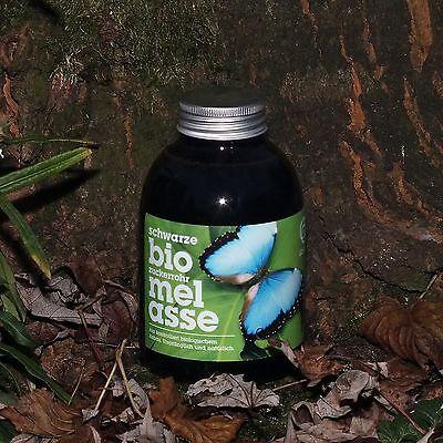 Schwarze Bio-zuckerrohrmelasse, Melasse, 0,5 Liter, Nahrungsergänzung
