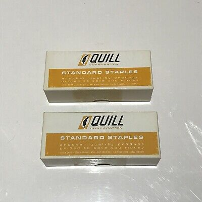 Vintage Quill Standard Staples - 2 Complete Boxes