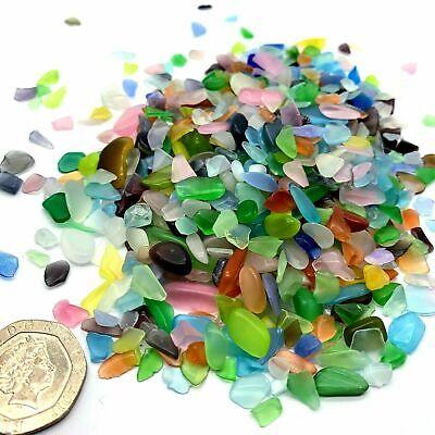50 100 200 Sea Beach Glass Beads 3-10mm Mixed Color Blue Purple Jewelry Pendant
