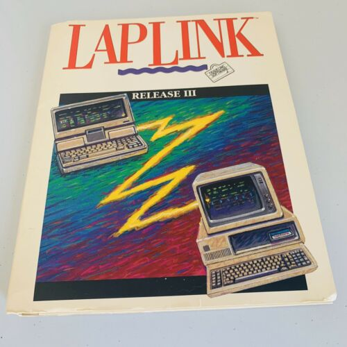 Laplink Traveling Software Release III Vintage 1989 Software With Sealed Disks