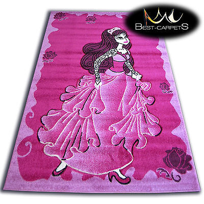 THICK RUGS 'PILLY' CARPETS ORIGINAL PINK PURPLE PRINCESS FOR KIDS CHEAP
