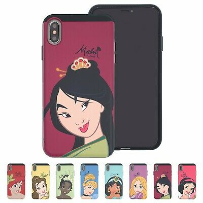 Disney Face Princess Bumper Cover Galaxy S10 Note10 iPhone 11 Pro XS Max XR -