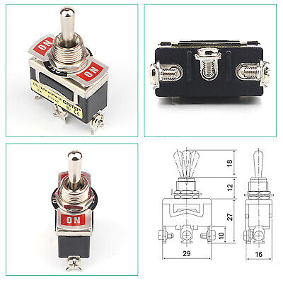 C513r Rocker Toggle Switch Spdt Maintained On-off 3 Pin 3 Position 250v 15a