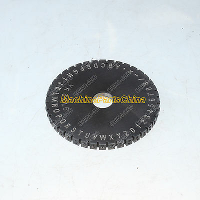 6mm Letter Wheel For Semi-automatic Sheet Embosser Metal Stamping Printer