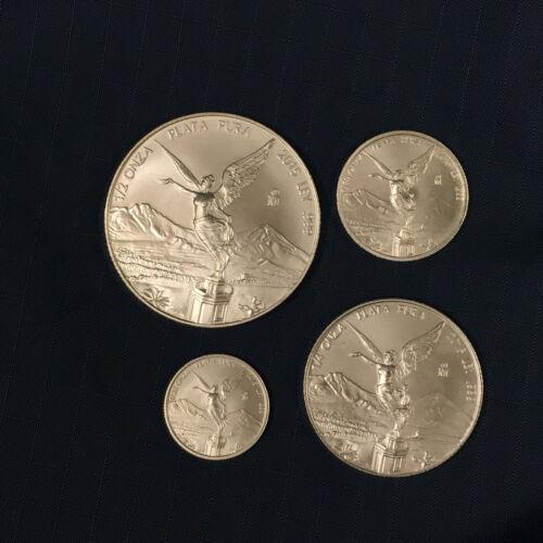 2015 Libertad 1/2, 1/4, 1/10 1/20 oz 4-Coin Set BU Fractional .999 Silver Mexico