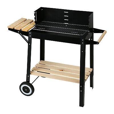 Holzkohlegrill Grillwagen Barbecue BBQ Camping Garten, auf
