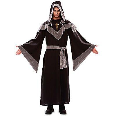 Faschingskostüm Meister d. Hexen Gr. M/L Kreuzkette schwarz/silber - Herr D Kostüm
