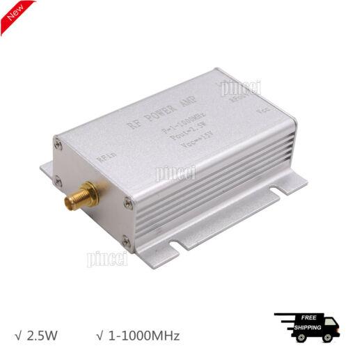 1-1000MHz 2.5W RF Power Amplifier Radio Frequency Power Amplifier Silver