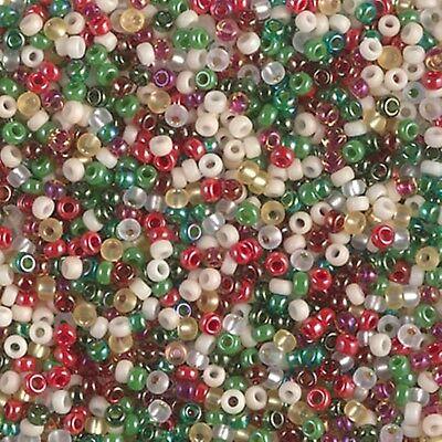 11/0 Old Fashion Christmas Bead Mix Miyuki Round Glass Seed (Christmas Beads)