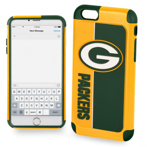 Official NFL Dual ShockProof Cover Case for Apple iPhone - Green Bay Packers
