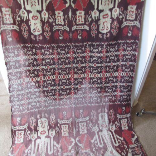 Vintage Indonesian Sumba Ikat Small Textile Tribal Home Decor Wrap 86 x 46