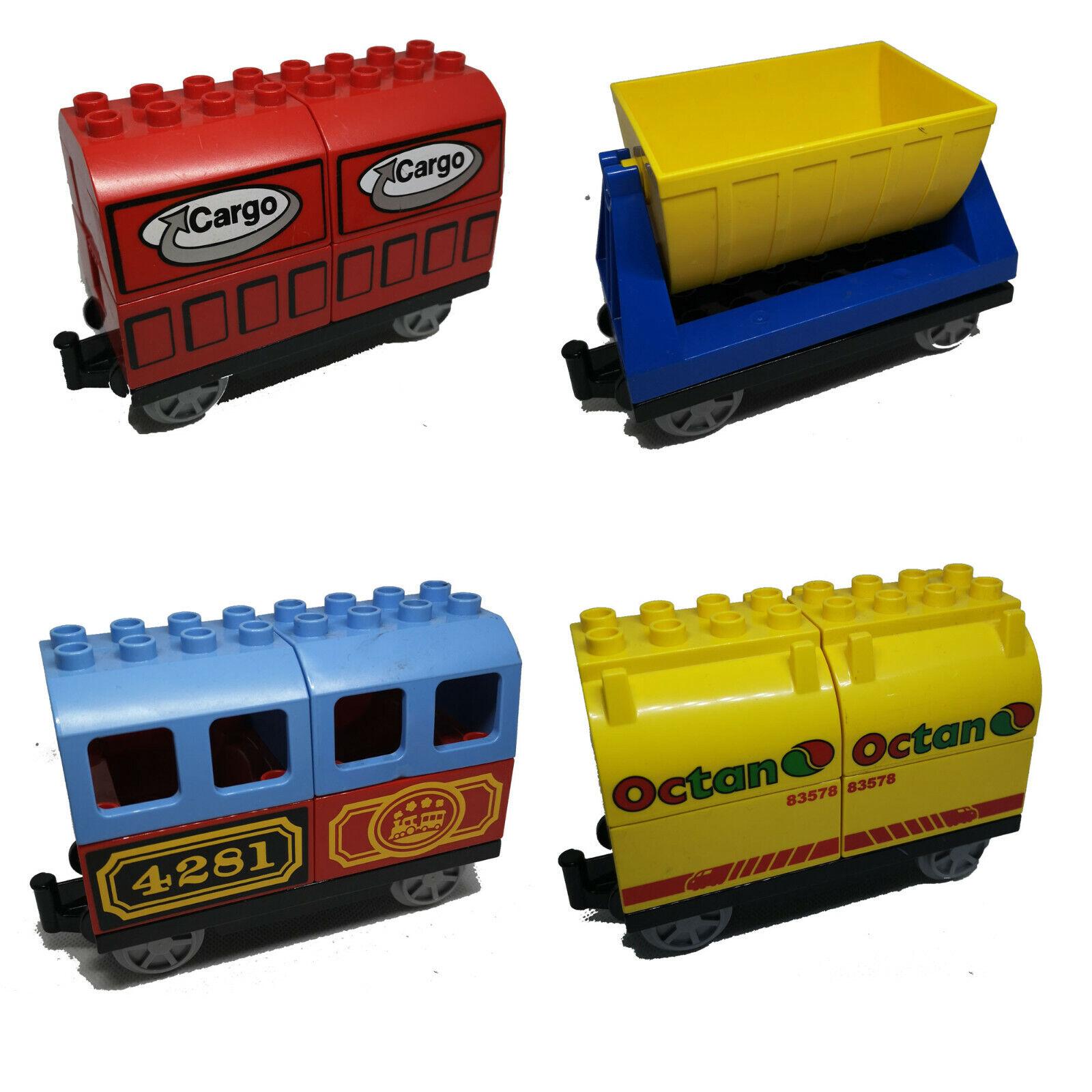 LEGO DUPLO Eisenbahn Anhänger Lok Container Kipplore Waggon E-Lok Zug