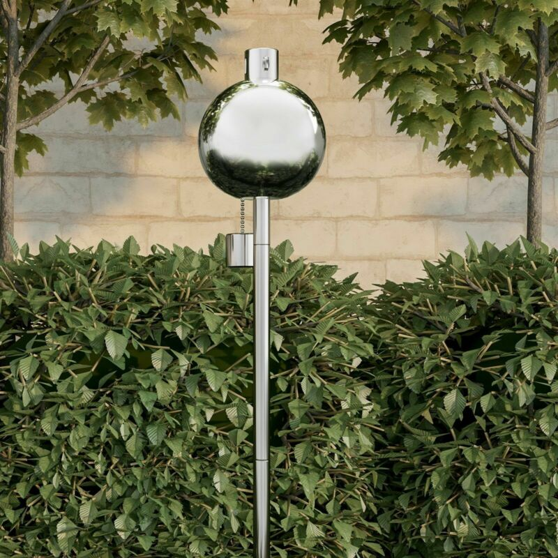 Torch Lamp 45 Inch Metal In Ground Outdoor Lighting Fuel Canister Patio Decor