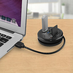 Portable USB 3.0 Hub and Card Reader round design mbeat