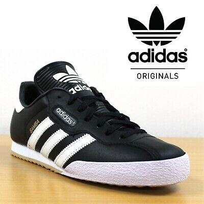 Adidas Originals SAMBA SUPER Retro Trainers Men's Casual Black Leather Sneakers