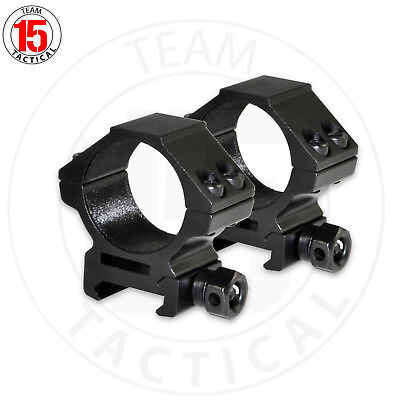 Pair of 30MM Scope Rings Rail Mount Picatinny, Low Medium High Profile, Aluminum - Mounting Scope Rings