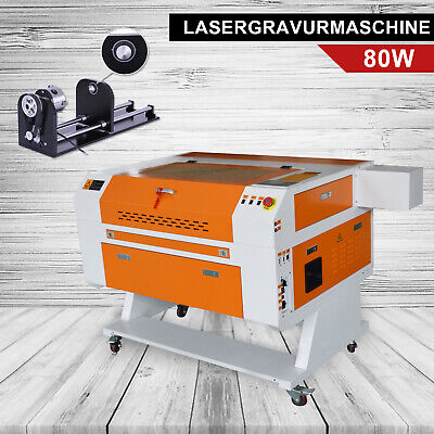 Shzm 80w Cutting Engraving Marking Machine Co2 Laser Engraver Cutter Rotary Axis