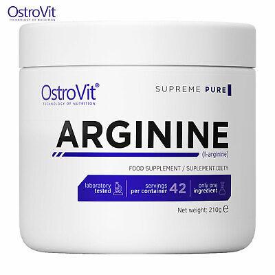 OSTROVIT ARGININE 210g - 42 SERV! - Nitric Oxide NO Booster Muscle Growth & (Best No Pre Workout)