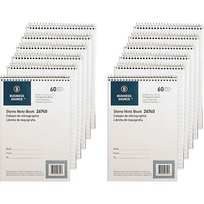 Business Source Steno Notebook Gregg Ruled 6x9 60 Sheets 12pk We Paper