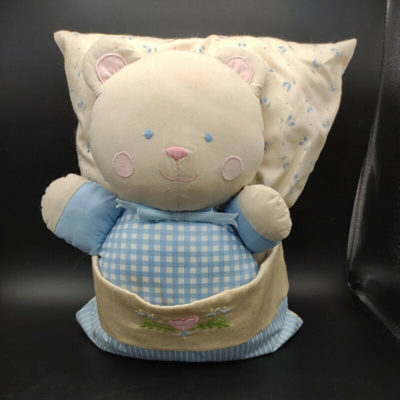 Vintage House Of Hatten Baby Pillow And Matching wind up musical Bear. Works