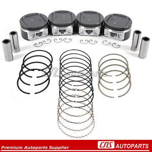 Pistons & High Performance Rings Fits 02-05 EJ205 EJ20 Subaru Impreza WRX Turbo