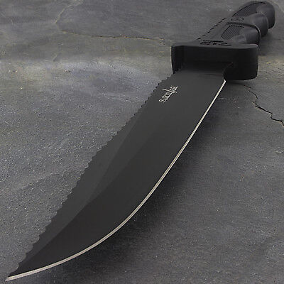 "13"" SURVIVOR TACTICAL BOWIE HUNTING KNIFE w/ GLASS BREAKER S"