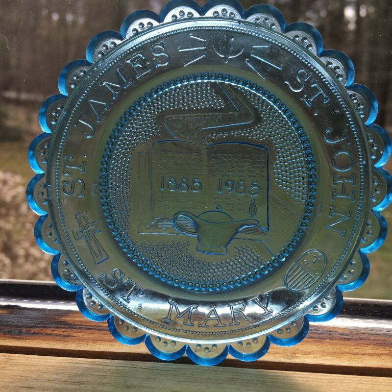 New Bedford MA St James St John St Mary Religious School VTG Pairpoint Cup Plate