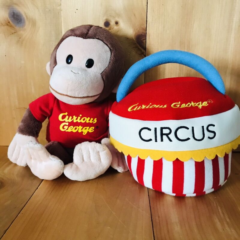 """Curious George Circus Plush And 11"""" Curious George Monkey Plush USED!!!! ((15))"""