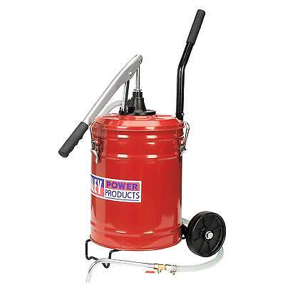 (Sealey Lever Pump Wheeled Gear Oil Dispensing/Dispenser Unit 20ltr -Mobile- TP17)