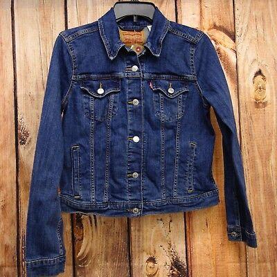 New Levi's Womens 29945 Dark Light Blue Denim Classic Trucker Jean Jacket XS-2XL