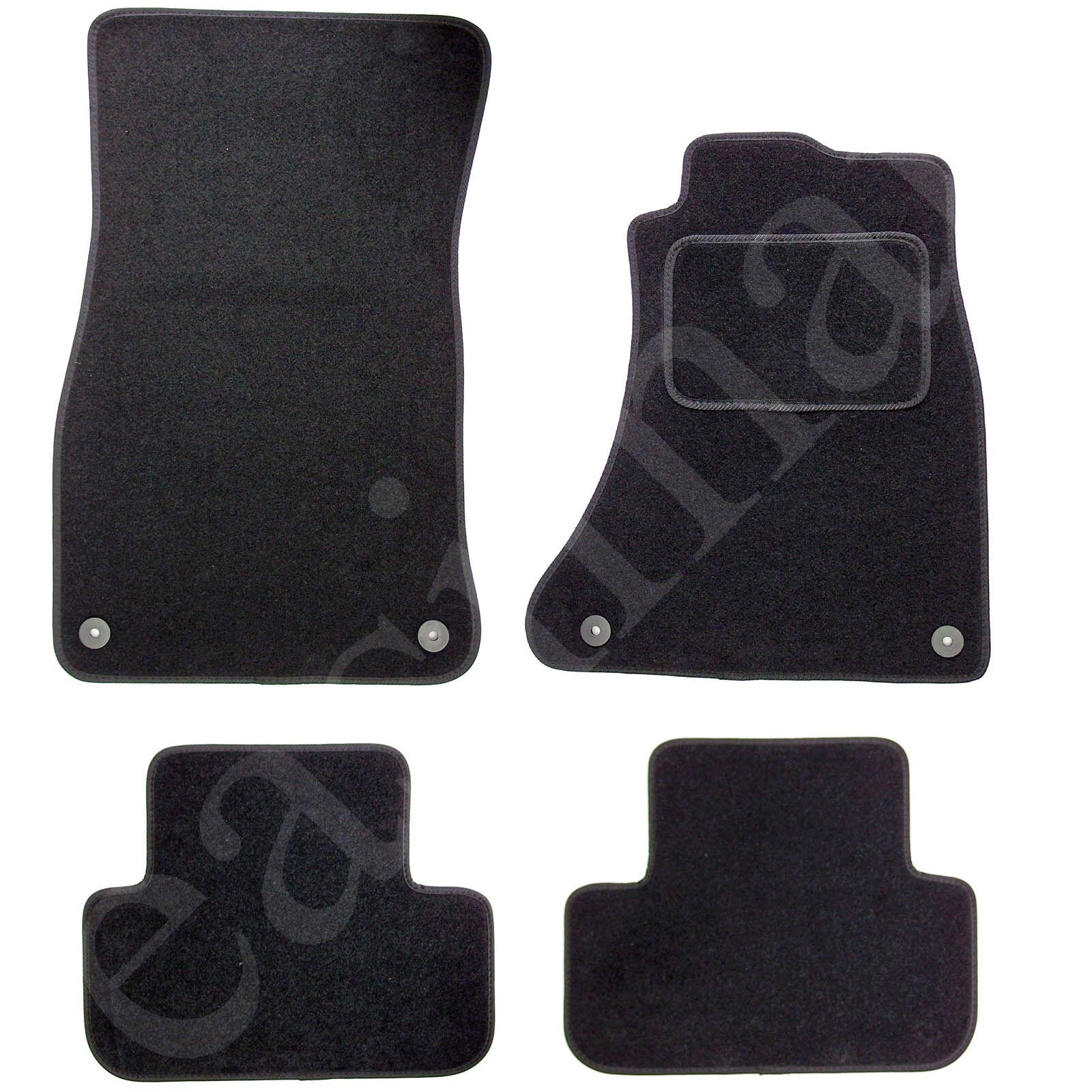 Car Parts - Fits Audi A4 B8 2008-2015 Car Mats Tailored Carpet Black 4pcs Floor Mat Set