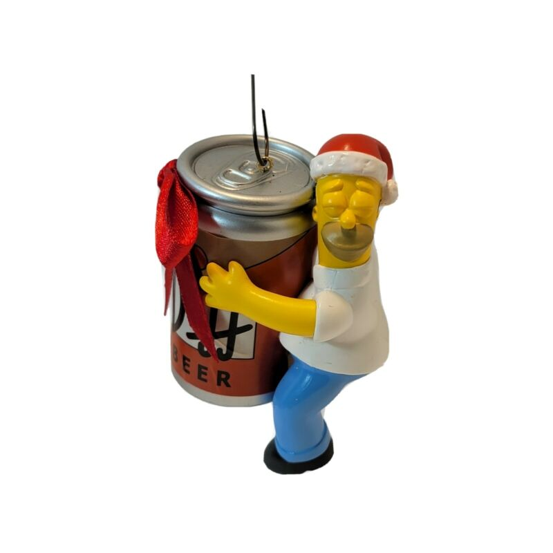 Homer w/ Duff Beer Can - The Simpsons Christmas Ornament by American Greetings
