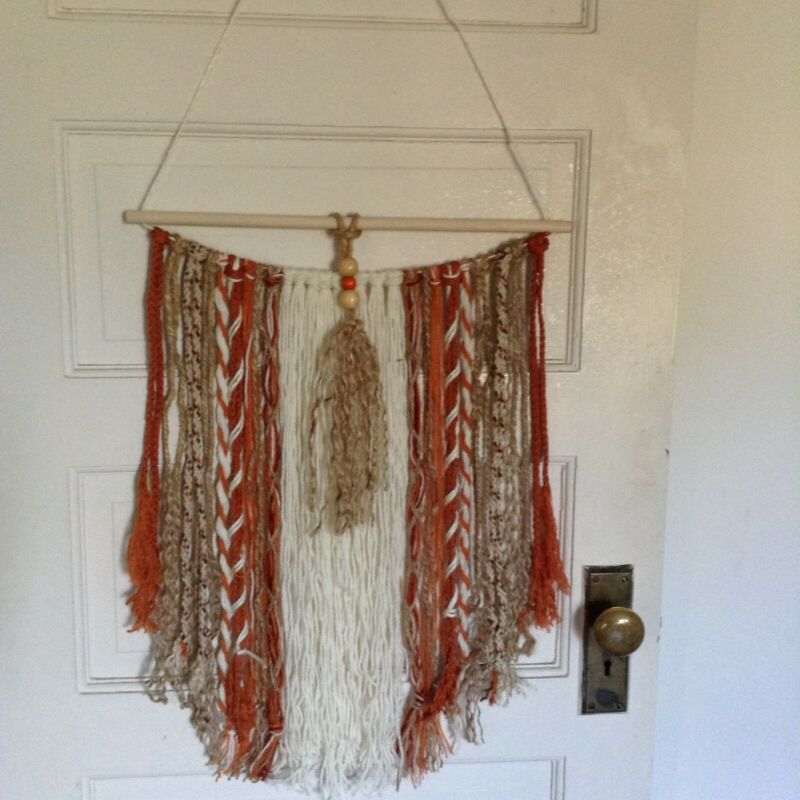 Yarn wall , fibre art,  boHo macramé handmade home decor