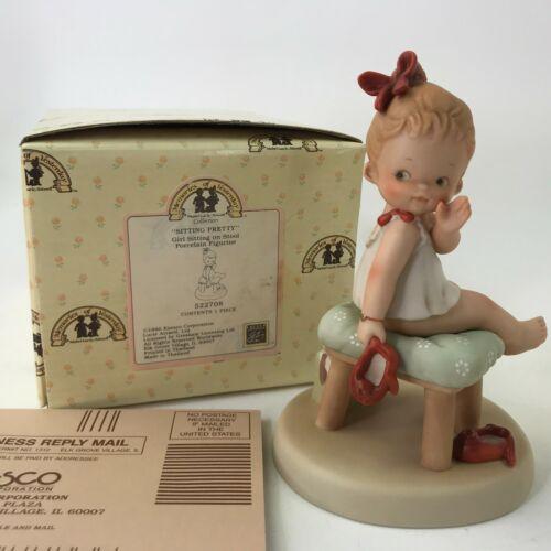Memories Of Yesterday Sitting Pretty Girl Sitting On Stool 522708 1990