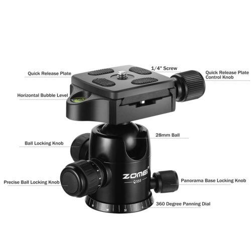 ZOMEI Q555 Portable Aluminium Travel Tripod&BallHead for Canon Nikon DSLR Camera
