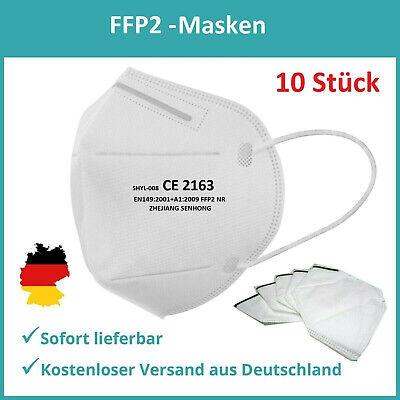 FFP2 Mundschutz Maske CE Zertifiziert Atemschutzmaske Schutzmaske (10er Pack)
