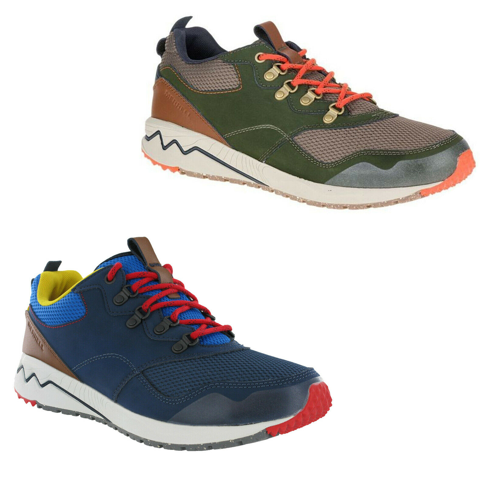 Merrell Stowe Trainers Leather Mesh Walking Mens Lace Up Casual Sneakers Shoes