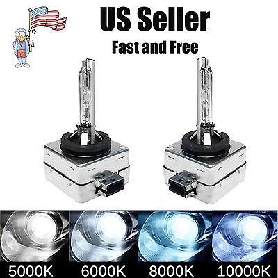 2Pcs D1SD1CD1R HID Xenon Headlight Replacement Bulbs 5000K 6000K 8000K 10000K